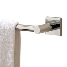 """Valsan Braga Square Base Towel Rail / Bar 23 5/8"""" - Polished Nickel"""