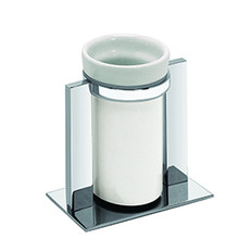 Valsan Pombo Sensis Freestanding Tumbler Holder - Satin Nickel