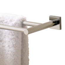 "Valsan Braga Square Base 24"" Double Towel Bar  - Polished Nickel"