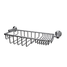 "Valsan Kingston Wall Mounted Soap and Sponge Basket 14 1/2"" W - Chrome"