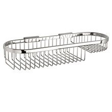 "Valsan Classic Detachable Oval Soap Basket Large 4 1/2"" X 15 3/4"" - Chrome"