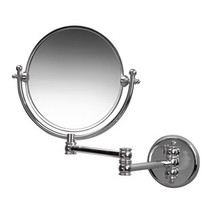 Valsan Classic Traditional Wall Mounted Magnifying Mirror x3 - Satin Nickel