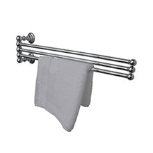 "Valsan Kingston 66370CR Adjustable 3 Tier 18"" Swivel Arm Towel Rail / Bar - Chrome"