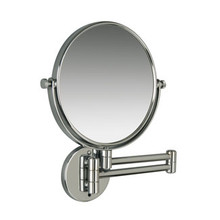 Valsan Classic Contemporary Wall Mounted Magnifying x3 Mirror - Satin Nickel