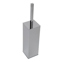 Valsan Cubis-Plus Freestanding Toilet Brush Holder - Satin Nickel