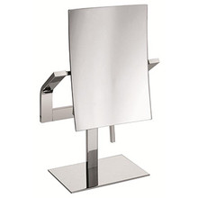 Valsan Sensis Freestanding Magnifying Mirror x3 with Stand - Satin Nickel