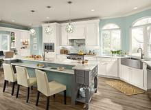 Kraftmaid Kitchen Cabinets - Slab - Solid (ML) Maple in Dove White