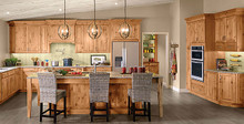 Kraftmaid Kitchen Cabinets - Square Raised Panel - Solid (MTA) Rustic Alder in Natural