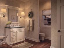 Kraftmaid Kitchen Cabinets - Square Raised Panel - Solid (MTM) Maple in Canvas w/Cocoa Glaze
