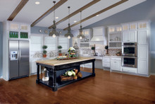 Kraftmaid Kitchen Cabinets - Square Raised Panel - Solid (BF) Cherry in Vintage Onyx