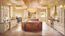 Kraftmaid Kitchen Cabinets - Square Raised Panel - Solid (GRM) Maple in Biscotti