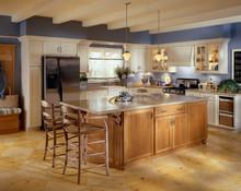Kraftmaid Kitchen Cabinets - Square Beaded - Solid (BWM) Maple in Biscotti w/Coconut Glaze