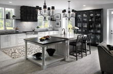 Kraftmaid Kitchen & Dining Cabinets - Square Raised Panel - Solid (BLC) Cherry in Vintage Dove White