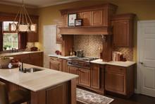 Kraftmaid Kitchen Cabinets - Square Raised Panel - Veneer (AB9C) Cherry in Rye