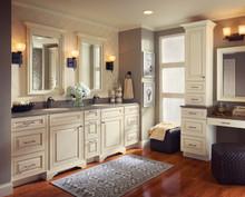 Kraftmaid Kitchen Cabinets - Square Raised Panel - Solid (AA0M) Maple in Canvas w/Cocoa Glaze