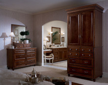 Kraftmaid Master Bedroom Furniture -  Square Raised Panel - Solid (AA1C-1) Cherry in Chocolate w/Ebony Glaze