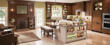 Kraftmaid Kitchen Cabinets -  Square Raised Panel - Veneer (AB9C1) Cherry in Hazel