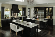 Kraftmaid Kitchen Cabinets -  Square Recessed Panel - Veneer (AC1M) Maple in Slate