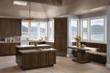 Kraftmaid Kitchen Cabinets -  Square Recessed Panel - Veneer (AC8O) Oak in Saddle