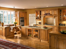 Kraftmaid Kitchen Cabinets -  Custom Office Desk