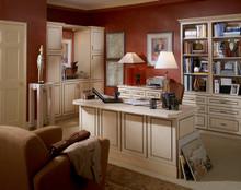 Kraftmaid Kitchen Cabinets -  Square Raised Panel - Solid (DAB) Rustic Birch in Praline