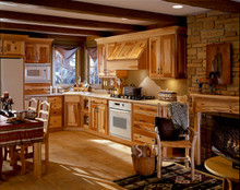 Kraftmaid Kitchen Cabinets -  Square Recessed Panel - Solid (DRHC) Cherry in Husk