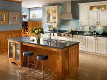 Kraftmaid Kitchen Cabinets -  Square Recessed Panel - Solid (DRHM) Maple in Biscotti w/Coconut Glaze