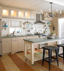 Kraftmaid Kitchen Cabinets -  Square Recessed Panel - Solid (DRHM) Maple in Praline