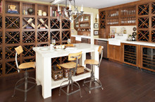 Kraftmaid Kitchen Cabinets -  Slab - Solid (ML) Maple in Pebble Grey