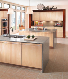 Kraftmaid Kitchen Cabinets -  Slab - Solid (ML) Maple in Natural