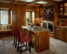Kraftmaid Kitchen Cabinets -  Square Raised Panel - Solid (PK) Cherry in Cabernet