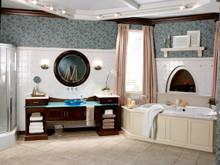 Kraftmaid Kitchen Cabinets -  Square Raised Panel - Solid (PK) Cherry in Antique Chocolate w/Mocha Glaze