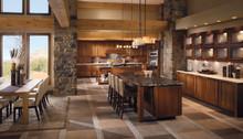 Kraftmaid Kitchen Cabinets -  Square Raised Panel - Solid (PVM) Maple in Praline w/Mocha Highlight