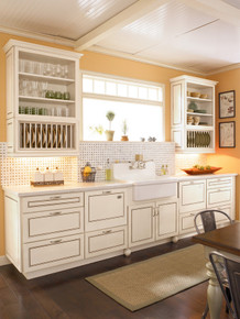 Kraftmaid Kitchen Cabinets -  Square Raised Panel - Solid (PVM) Maple in Ginger w/Sable Glaze
