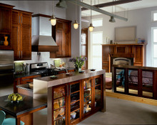 Kraftmaid Kitchen Cabinets -  Square Recessed Panel - Veneer (SNM) Maple in Dove White