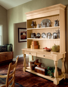 Kraftmaid Kitchen Cabinets -  Square Raised Panel - Solid (WLO) Oak in Cognac