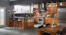 Kraftmaid Kitchen Cabinets -  Square Raised Panel - Solid (WLO) Oak in Honey Spice