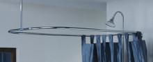 "Cheviot  3150/57-AB Rectangular Shower Curtain Rod 31"" X 57"" for Clawfoot Tub  - Antique Bronze"