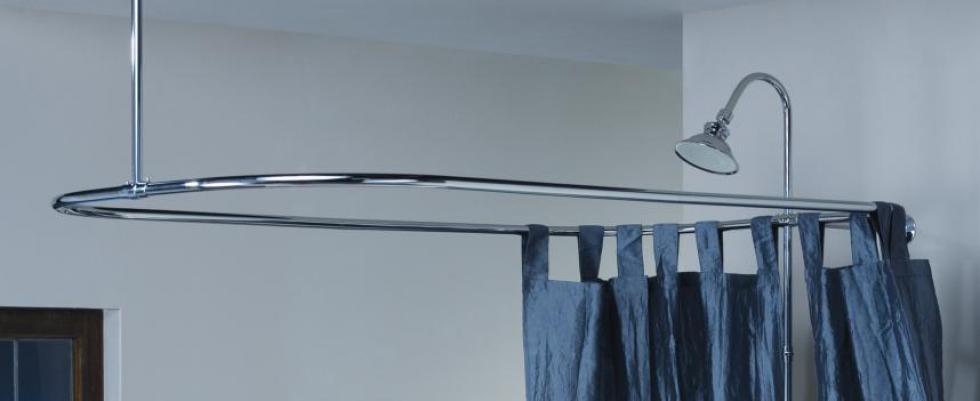 Cheviot 3150 57 CH Rectangular Shower Curtain Rod 31 X For