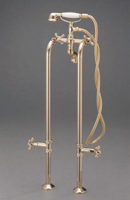 "Cheviot  3970XL-PB 3/4"" Free Standing Water Supply Lines With Stop Valves for Tub Faucet  - Polished Brass"