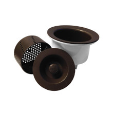 """Opella 90077 Deep 3 1/2"""" Basket Strainer with Water Tight Lid - Espresso / Brown"""