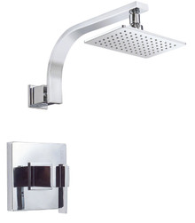 Danze D512544T Sirius Single Handle Shower Faucet Trim 2.0 Gpm Showerhead - Chrome