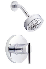 Danze D512558T Parma Single Lever Handle Shower Faucet Trim 2.0 Gpm Showerhead - Chrome