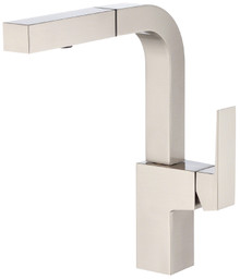 Danze D404562SS Mid-town Single Handle Pull Out Spray Kitchen Faucet - Stainless Steel