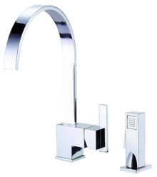 Danze D401144 Sirius Single Handle Kitchen Faucet with Side Spray 1.75gpm & 2.2gpm - Chrome