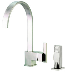 Danze D401144SS Sirius Single Handle Kitchen Faucet with Side Spray 1.75gpm & 2.2gpm - Stainless Steel