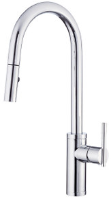 Danze D454058 Parma Pullout Spray Kitchen Faucet with SnapBack Technology - Chrome