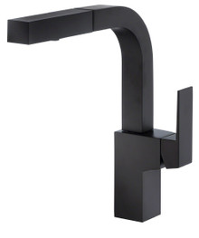 Danze D404562BS Mid town Single Handle Pull Out Spray Kitchen Faucet - Satin Black