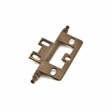 Schaub 1100M-ALB Minaret Tip Non-Mortise Hinge - Antique Light Brass