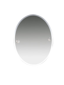 "Valsan  M8000CR Oslo Chrome Bevelled Wall Mirror, 15 3/4"" W x 19 7/8"" H"